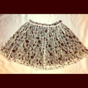 Girls Alice in Wonderland Tulle Skirt